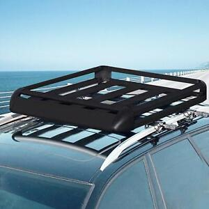 Universal Black Roof Rack Cargo Carrier W Extension Roof Basket Suv 64