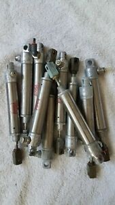 Lot 10 Bimba Pneumatic Air Cylinder D 75178 a 1 5 13 16 Bore 1 1 2 Stroke 1 4