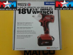 Matco Tools Infinium Mcl1838iw 18v 3 8 Impact Wrench New Battery Not Included