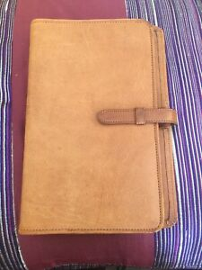Vintage Coach Brown Leather Day Planner Notebook Address Journal