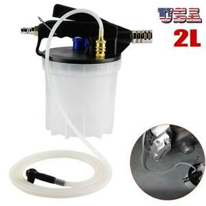 2l Car Brake Bleeding Clutch Fluid Bleeder Vacuum Pump Tool Kit Air Powered Us