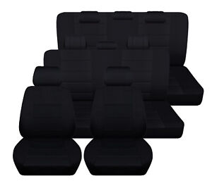Seat Covers For A 2019 Toyota Highlander Solid Black Three Rows Abf