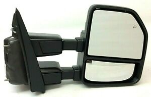 17 19 Ford Super Duty Heat Rh Passenger Trailer Tow Telescoping Side View Mirror