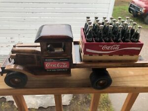 Coca Cola 1940s Delivery Truck New made of wood hand crafted