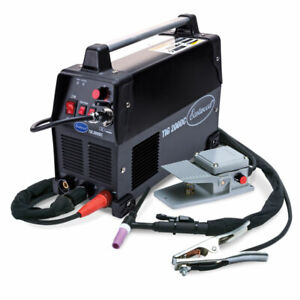 Eastwood Tig 200 Amp Dc Welder Steel Machine 110 240v Foot Pedal Output Inverter