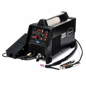 Eastwood Tig 200 Amp Digital Welder Machine For Steel Aluminum 240v Foot Pedal