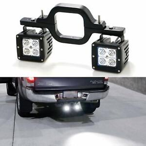 3 Tow Hitch Mounting Bracket Dual Led Light Backup Reverse Truck Off Road Suv
