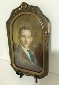Vintage Portrait Frame W Convex Bubble Glass Composite Decorative Frame