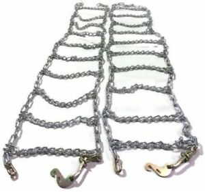 Skid Steer Uni loader Snow Tire Chains Twist Link Hardened 10 16 5 Peerless