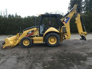2012 Caterpillar 416est 4x4 Loader Backhoe With Buckets Hoe Pack