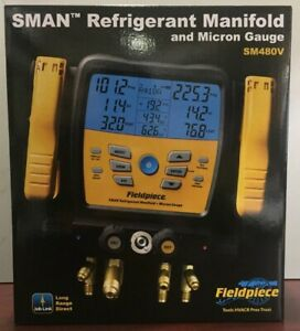 Fieldpiece Sm480v Wirelss 4 port sman Refrigerant Manifold And Micron Gauge