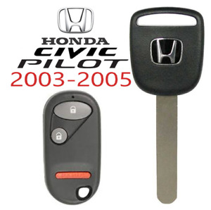 Honda Civic Pilot 03 05 Ho01 Transponder Chip Key Remote Nhvwb1u523 Usa A
