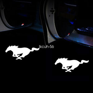 2 X Wireless Car Door Led Laser Projector Logo Ghost Shadow Light For Mustang