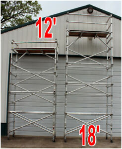 12 only Narrow Span Tower Scaffolding Aldek Aluminum Scaffold By Werner