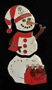 2002 SALT LAKE CITY OLYMPIC COCA COLA/COKE SNOWMAN PUZZLE PIN/PINS. VERY RARE!!