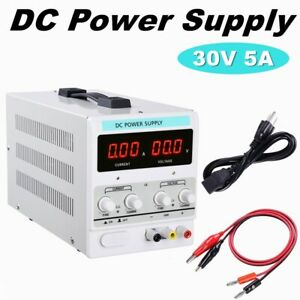 30v 5a Precision Variable Digital Dc Power Supply Adjustable W Cable 110v