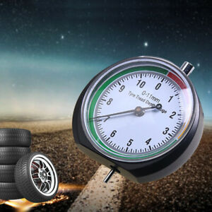 Stainless Steel Tire Tyre Pressure Tread Depth Gauge Pointer Indicator Newly
