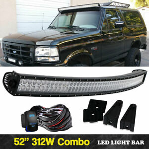 54 Led Light Bar Curved Wiring Harness For Chevy Silverado Gmc Sierra Pickup
