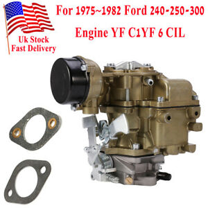 For Ford Carburetor Yf Type Carter 240 250 300 6 Cylinder Cil 75 82 D5tz9510ag
