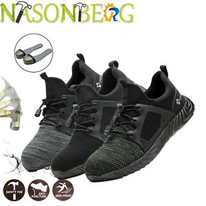 Men s Work Safety Shoes Steel Toe Ventilation Boots Indestructible Sneakers Esd