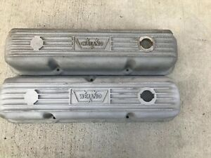 Vintage Weiand Aluminum Finned Valve Covers Ford Fe 352 390 406 410 427 428 Rare