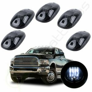 5pcs Cab Roof Marker Smoke Light White 6000k 12 Led For 04 18 Dodge Ram 2500