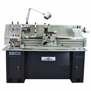 Pm 1340gt 13 x40 Ultra Precision Lathe Large Spindle Bore Taiwan 1ph Ships Free