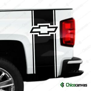Chevrolet Chevy Logo Rear Truck Bed Graphic Decal Racing Vinyl Stripes Sticker