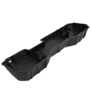 Rear Under Seat Storage Box Tool Tray For 2014 2019 Sierra Silverado Crew Cab