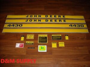 Tractor Decal Set With Caution Decals To Fit John Deere 4430 Jd419