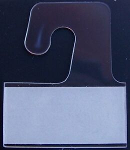 500 Clear Plastic Self Adhesive Stick Hook Hang Tabs Tag Hangers 24 Oz Limit