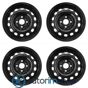 New 14 Replacement Wheels Rims For Honda Civic 2001 2002 2003 2004 2005 Set Bla