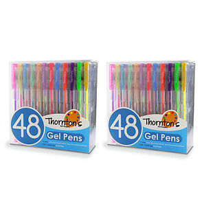 Thornton s Art Supply Assorted Colors Gel Pens Assorted Ink Set Of 96