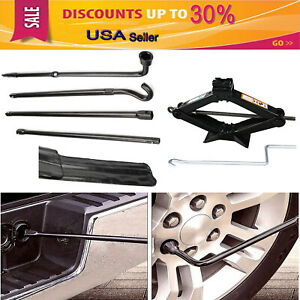 Car Tire Repair Kit Tool For Ford F 150 2004 To 2014 Scissor Jack Steel 2t New