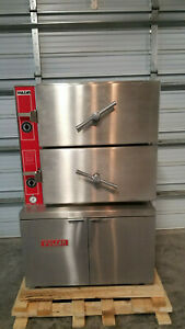 Vulcan Vl2ems 2 Compartment Steamer Oven Electric 208 Volts 3 Phase Tested