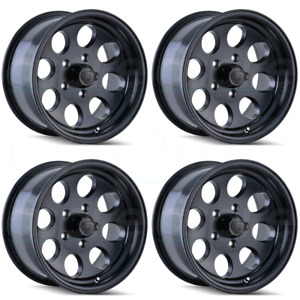 16x8 Ion 171 6x5 5 6x139 7 5 Matte Black Wheels Rims Set 4