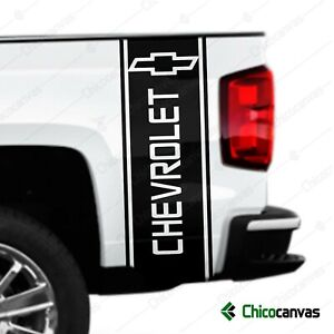 Truck Bed Vinyl Decal Compatible With Chevy Chevrolet Trucks Stripes Sticker Kit