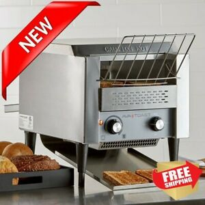 Commercial Conveyor Toaster Oven With 3 Opening Toasts 300 Slices Per Hour
