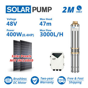 3 Dc Solar Water Pump 48v 400w Submersible Mppt Controller Deep Bore Well