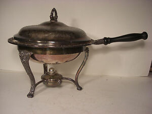 Antique Silver Plate Chafing Dish Set
