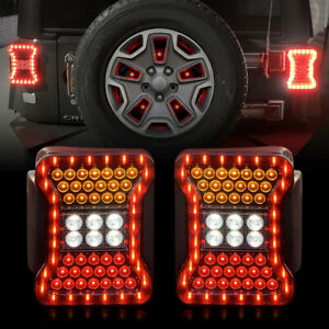 Jl Look Style Taillights Smoked For 2007 2018 Jeep Wrangler Jk Jku Pair