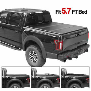 Hard Solid Tri fold fits 2009 And Up Dodge Ram 5 7 Ft Tonneau Bed Cover Truck