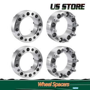 4pcs 2 8 Lugs 8x6 5 Wheel Spacers Adapters For Chevy C k 2500 3500 Gmc Nissan