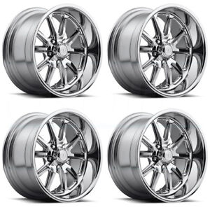 15x8 Us Mags Rambler U110 5x4 75 5x120 65 1 Chrome Wheels Rims Set 4