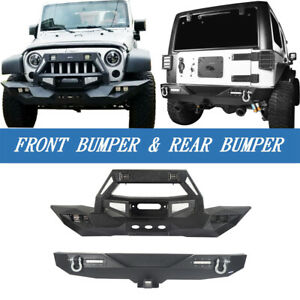 Destroyer Steel Front Rear Bumper W Winch Plate For Jeep Wrangler Jk 2007 2018