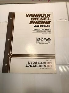 Yanmar Diesel Engine Air Cooled Parts Catalog L70ae dvbo Devbo oooyoov4481