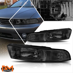 For 99 03 Mitsubishi Galant Direct Replacement Headlight lamp Clear Side Smoked
