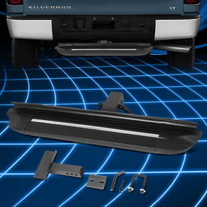 Universal 26 75 X 4 Square Towing Hitch Step Bar Rear Bumper Guard 2 Receiver