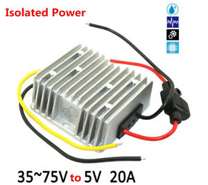 36 48 60v To 5v 20a 100w Isolated Power Dc Regulator Waterproof Power Module