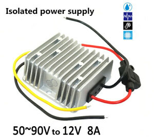 60v 72v 84v To 12v 8a 96w Battery Forklift Dc dc Isolated Power Supply